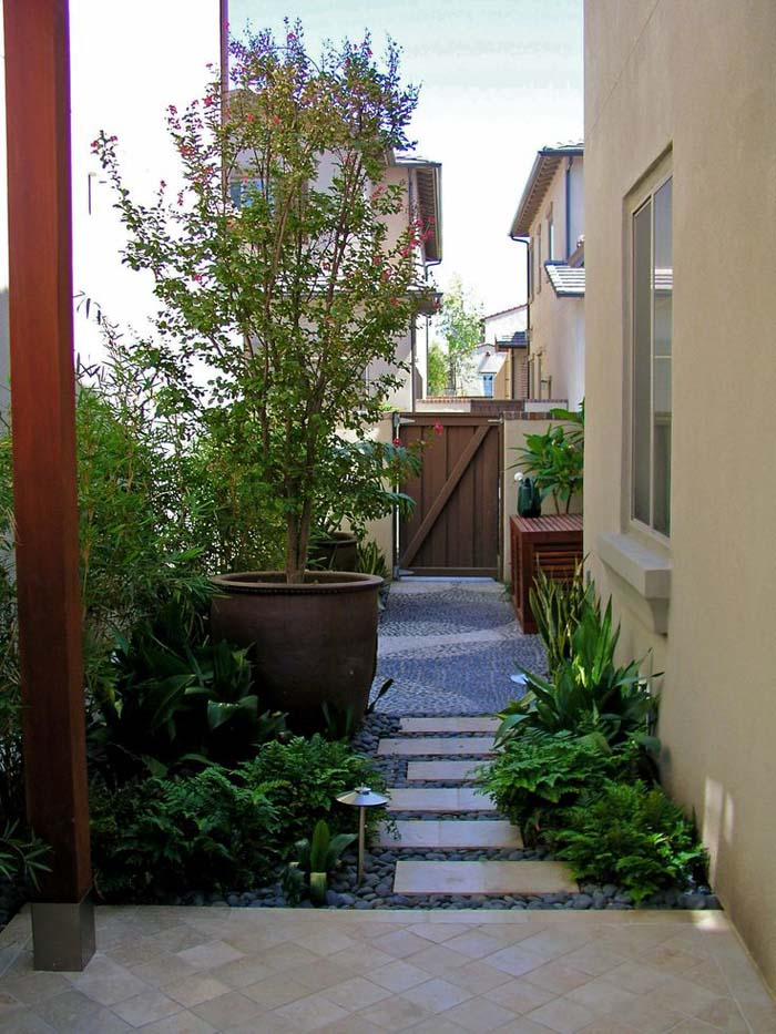How to make an apply unique Side yard landscaping ideas ... on Narrow Backyard Landscaping Ideas  id=60444