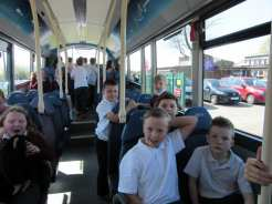 Inside the new Arriva X1 bus
