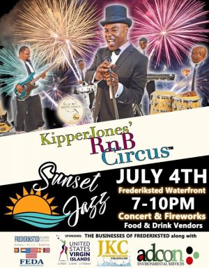 Frederiksted Fireworks and Sunset Jazz 2019