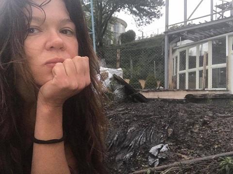 В особняк Руслани влучила блискавка (ФОТО)