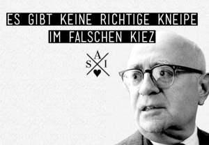 Adorno Sticker von Style Against Idiots
