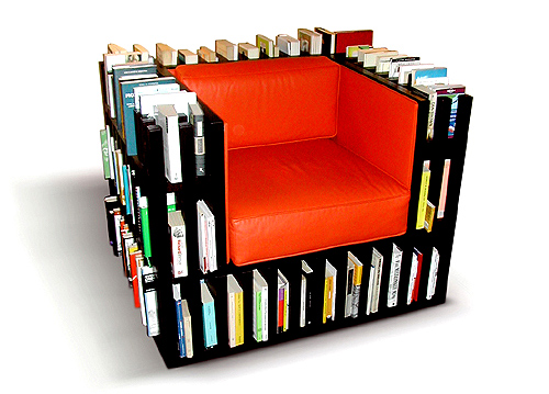 Book case, chair, interesting furniture, book lover, love