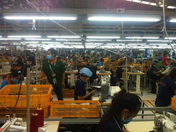 Textilproduktion Fabrik in Vietnam