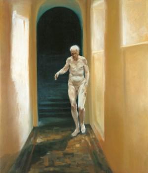 Älterwerden: Nackter alter Mann