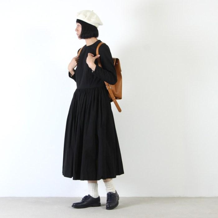 YAECA(ヤエカ) COTTON LINEN BIG TUCK DRESS