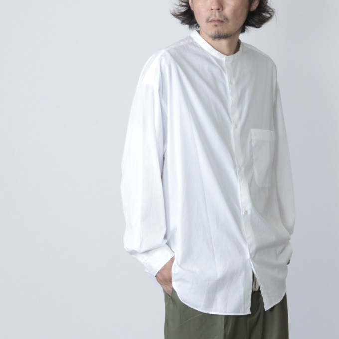 Graphpaper(グラフペーパー) Broad Band Collar Oversized Shirt