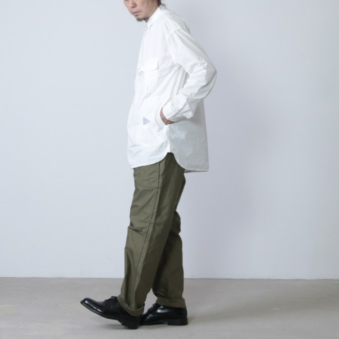 and wander(アンドワンダー) CORDURA typewriter shirt