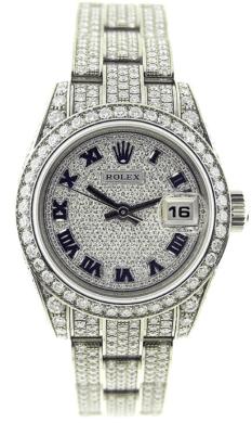 นาฬิกา rolex ที่แพงที่สุด - Rolex Datejust Ladies White Gold Diamond Pave Watch