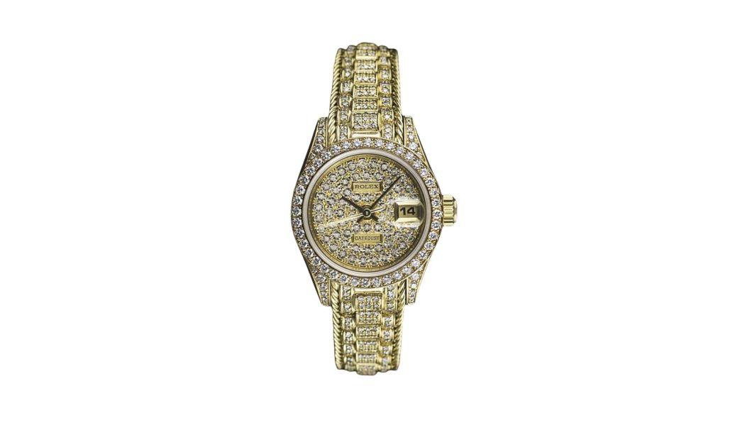 นาฬิกา rolex ที่แพงที่สุด - Rolex Datejust Ladies Yellow Gold Diamond Pave Watch
