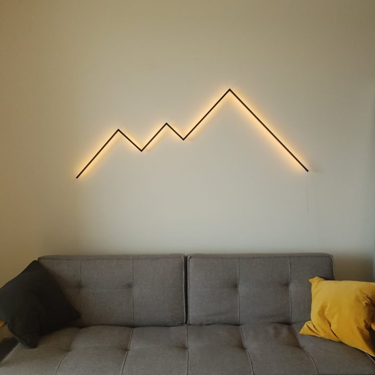 Simple Mountains LED light sculpture by REFLEKTION