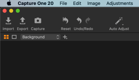 Capture button in Capture One user interface
