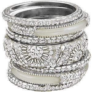 Fancy silver bangles