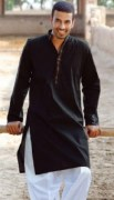 black kurta shalwar for men (12)