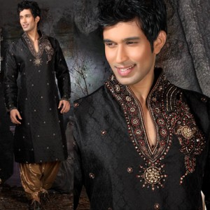 black kurta shalwar for men (5)