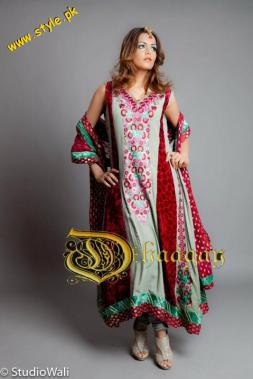 Latest Dhaagay Semi-Formal Wear Collection For Summer 2012-006
