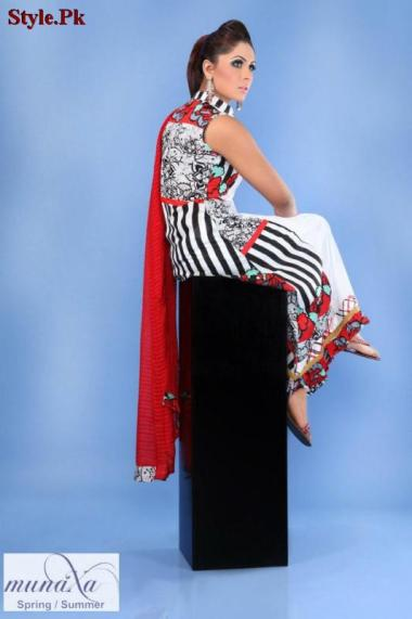 Latest Munaza Summer Lawn Dresses For Women 2012-009