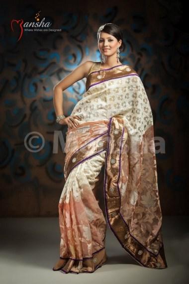 Eid-ul-Fitre 2012 Designer Saree Collection by Mansha013