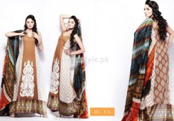 Hira Lari By Afroze Textiles Dresses For Eid 2012 002