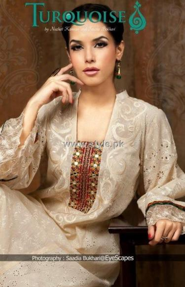 Turquoise Eid Collection 2012 for Ladies 008