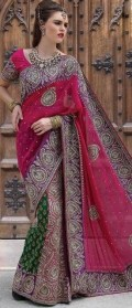 Latest Bridal Saree Trends 2012 For Women 004