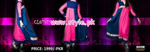 Latest Clothes Line Winter Dresses 2012 For Women 007