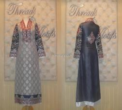 Threads and Motifs New Embroidered Dresses 2013 for Ladies 004
