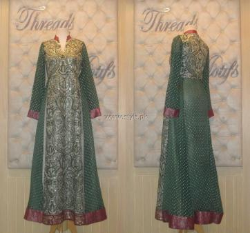 Threads and Motifs New Embroidered Dresses 2013 for Ladies 009
