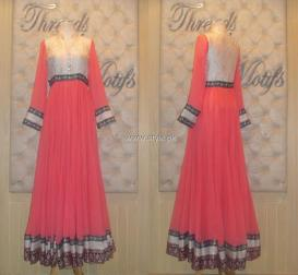 Threads and Motifs New Embroidered Dresses 2013 for Ladies 011