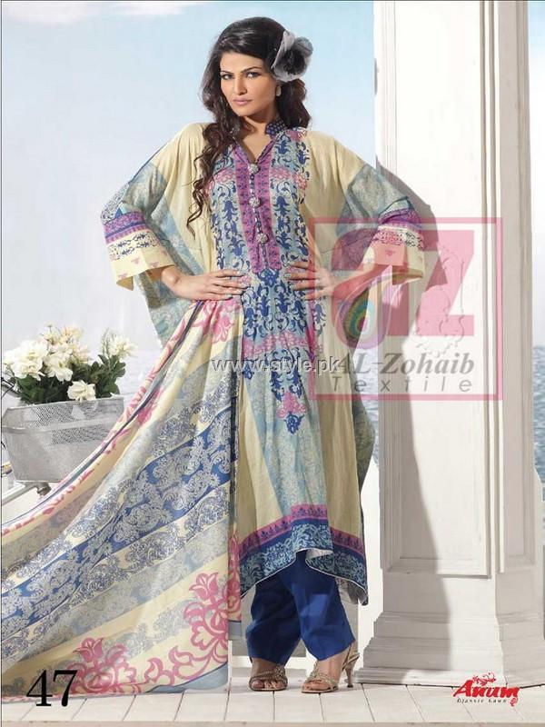 Anum Lawn Collection 2013 by Al-Zohaib Textiles