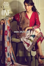 Nida Azwer Lawn Collection 2013 For Women 001