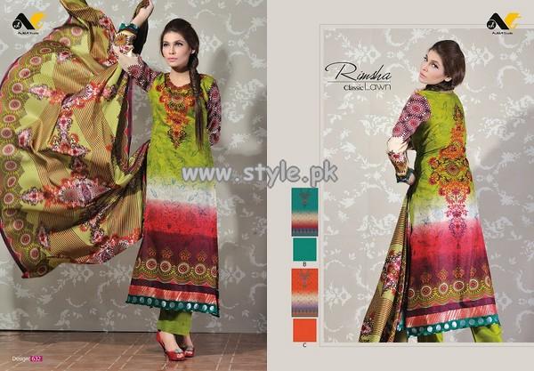 Rimsha Lawn Collection For Women 2013 006