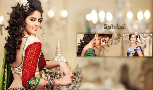 Zobi Fabrics Lehenga Sarees Collection 2013 For Women 0014