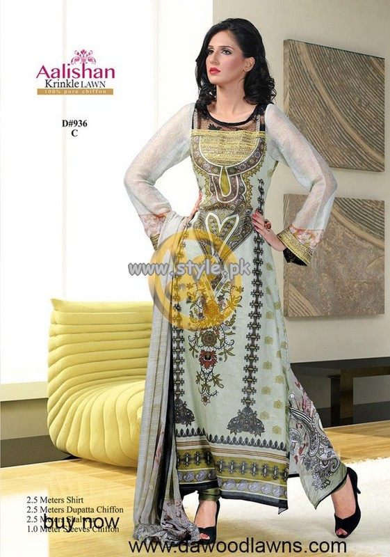 Dawood Alishan Lawn Collection For Summer 2013 008