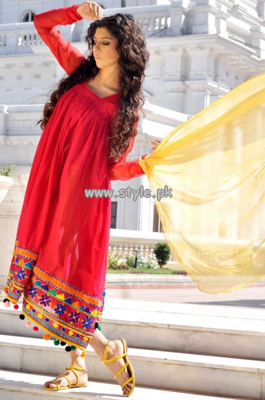 Arfa's Summer Party Wear Dresses 2013 006