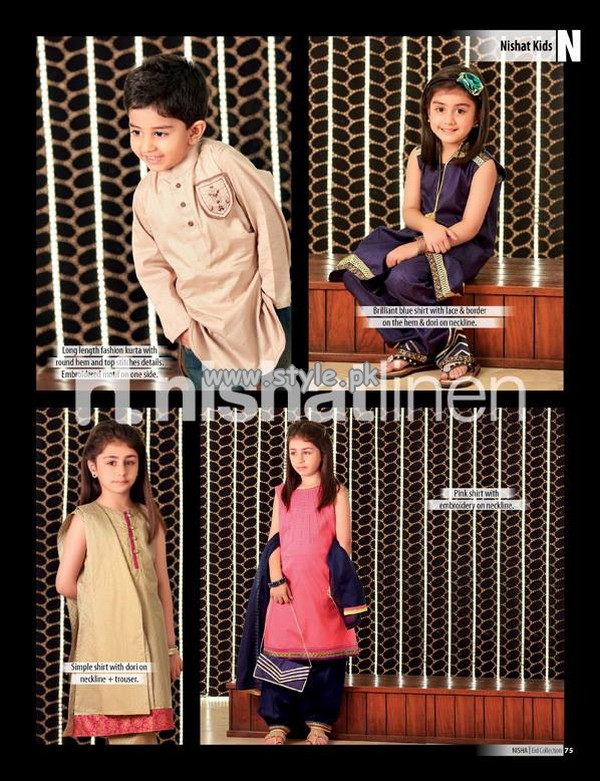 Nishat Linen Eid Collection 2013 For Boys and Girls 003