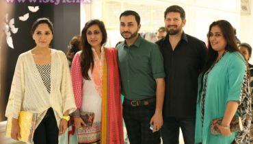 Sania, Wardha Saleem, Nubain, Tapu and Fathma at Dolmen Mall Store Launch