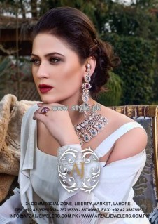 Afzal Jewelers Necklace Designs 2013 For Wedding 004