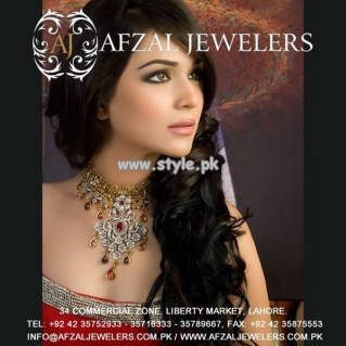 Afzal Jewelers Necklace Designs 2013 For Wedding 005