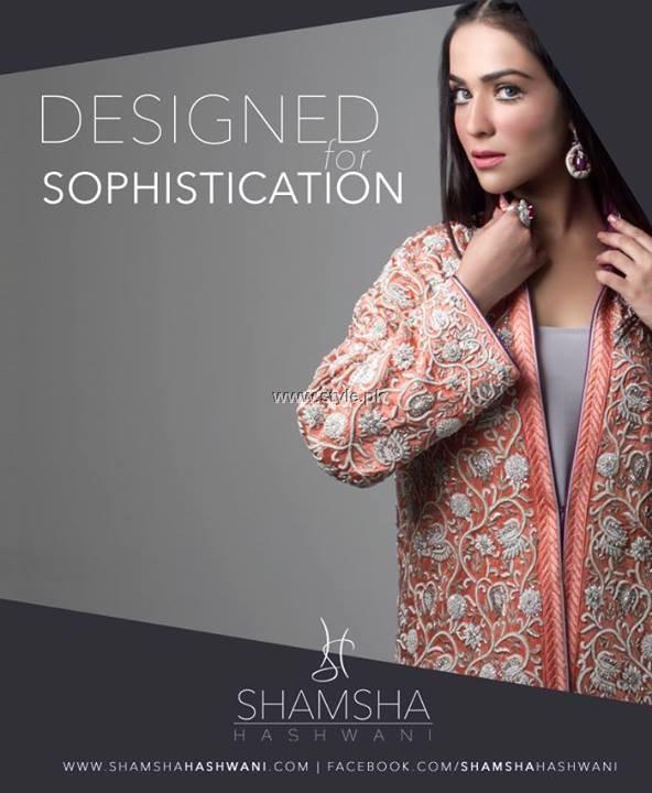 Shamsha Hashwani Party Wear Dresses 2013 for Women