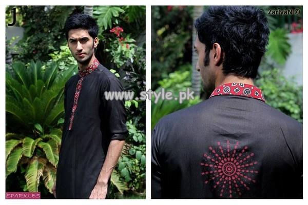 Sparkles Men Kurta Collection 2013 For Eid 003