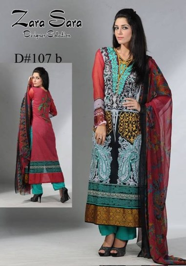 Zara Sara Collection 2013 by Dawood Lawns 006