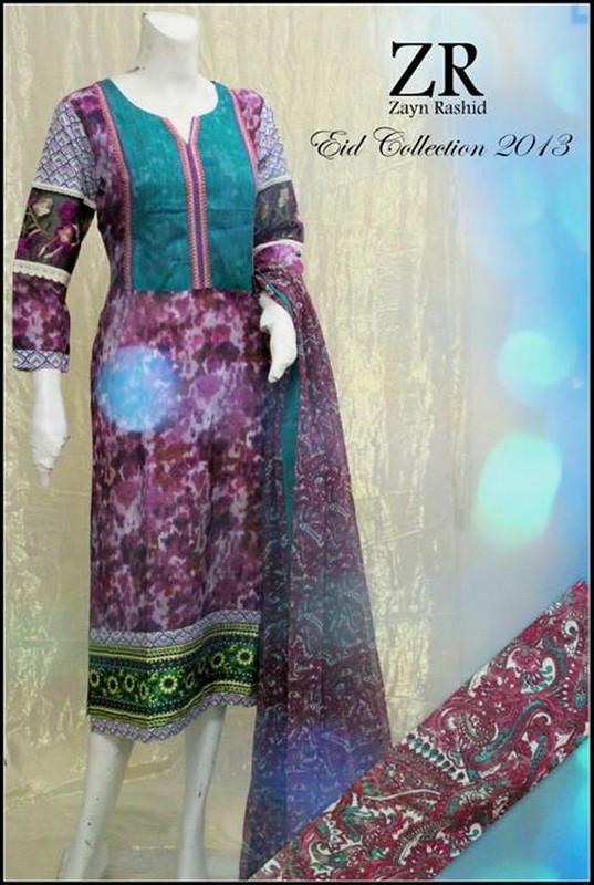 Zayn Rashid Eid Collection 2013 For Girls 001