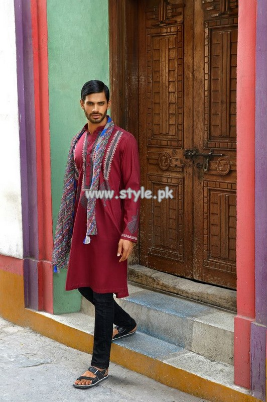 Arsalan Iqbal Kurta Shalwar Designs 2013 For Boys 002