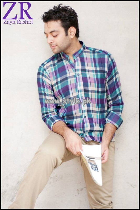 Zayn Rashid Casual Wear Shirts 2013 For Men 007