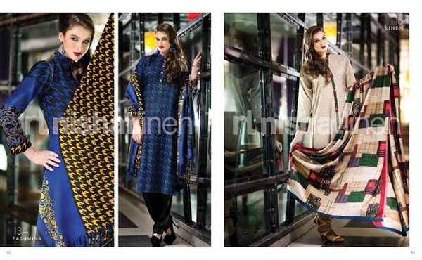 Nishat Linen winter collection 2013 for Women