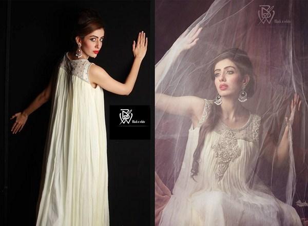 Black & White Couture Winter Dresses 2013 For Women 006
