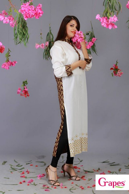 Grapes The Brand Digital Prints Kurta Collection 2013 For Women 003