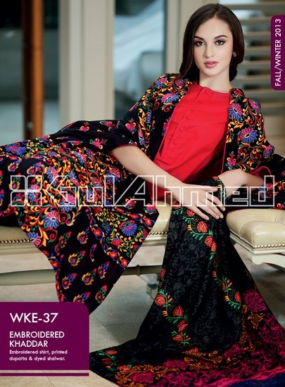 Gul Ahmed Khaddar Winter Collection 2013 For Ladies 005