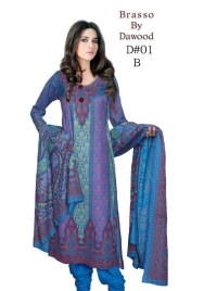 Dawood Textiles Winter Dresses 2013 For Women 004