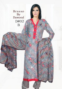 Dawood Textiles Winter Dresses 2013 For Women 007